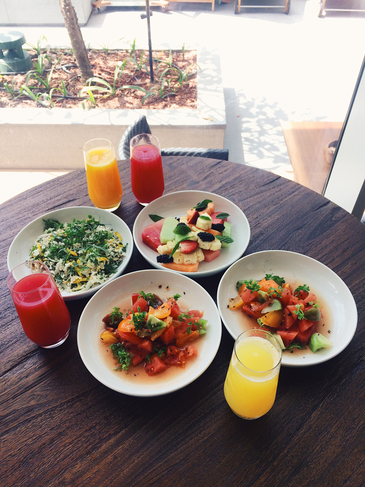 First breakfast in Dubai! Amazing watermelon salads.