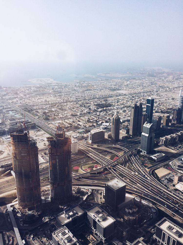 From the tallest building in the world - the Burj Khalifa.
