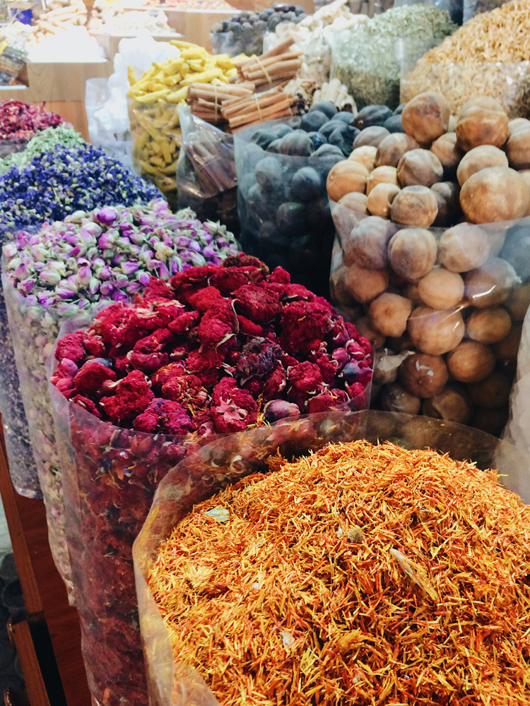Taking in all the scents at the Spice Souks in Old Dubai.