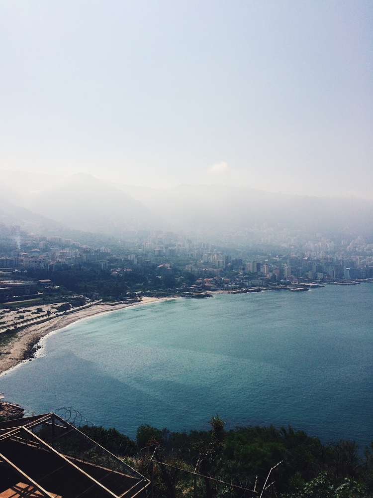 The amazing views I was lucky to wake up to every morning in Jounieh, Lebanon.