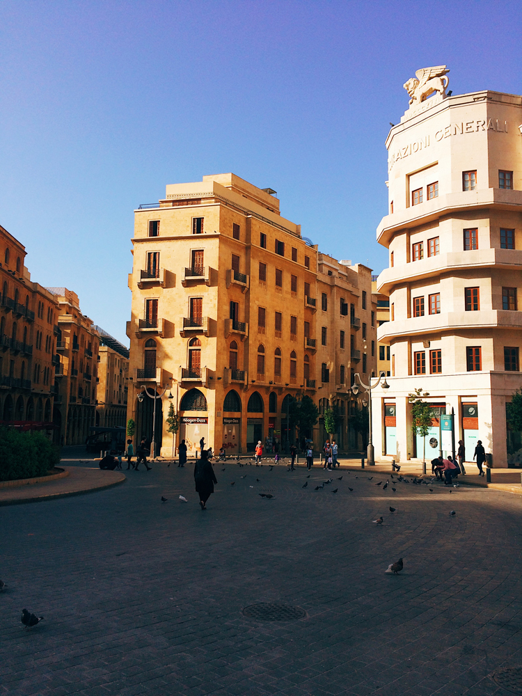 Exploring Downtown Beirut.