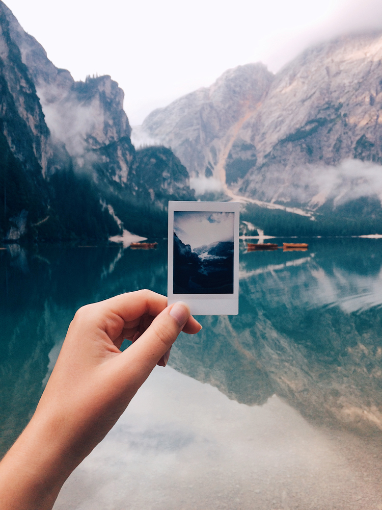 Polaroids at Lake di Braies.