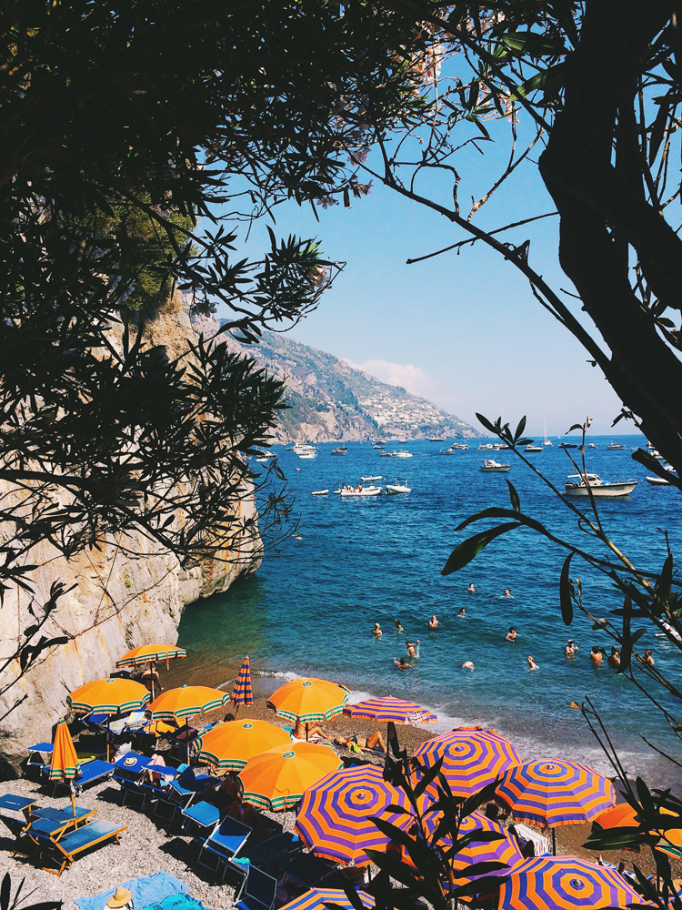 There are so many amazing hidden beaches throughout Positano.