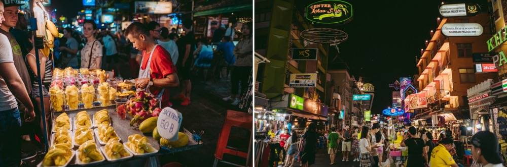 Visiting the hectic Khao San Road night markets