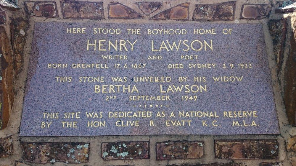 Henry Lawson Memorial Plaque