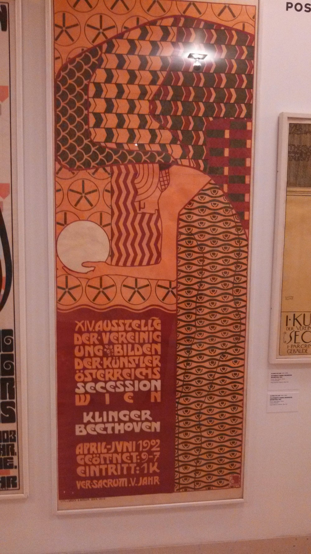A litho poster print at the Neue Gallery, the museum of German and Austrian art.