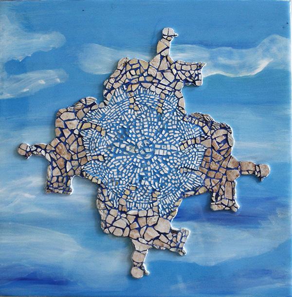 Mosaic paintings, Dance I, II and III. 2014