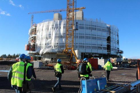 Kirunas new city hall, Kristallen, in progress.