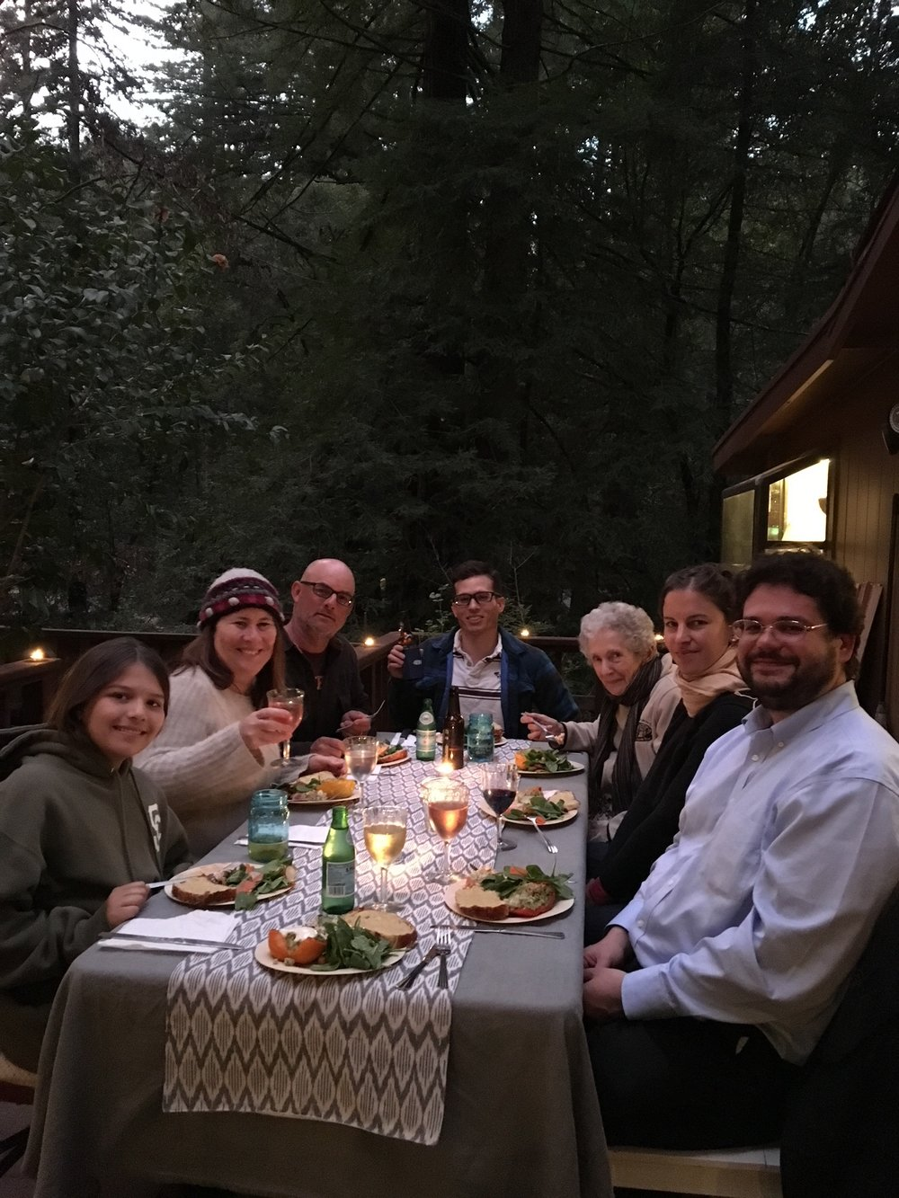 Hosted our first (fairly) large dinner party when our friend Martin was in town from Switzerland