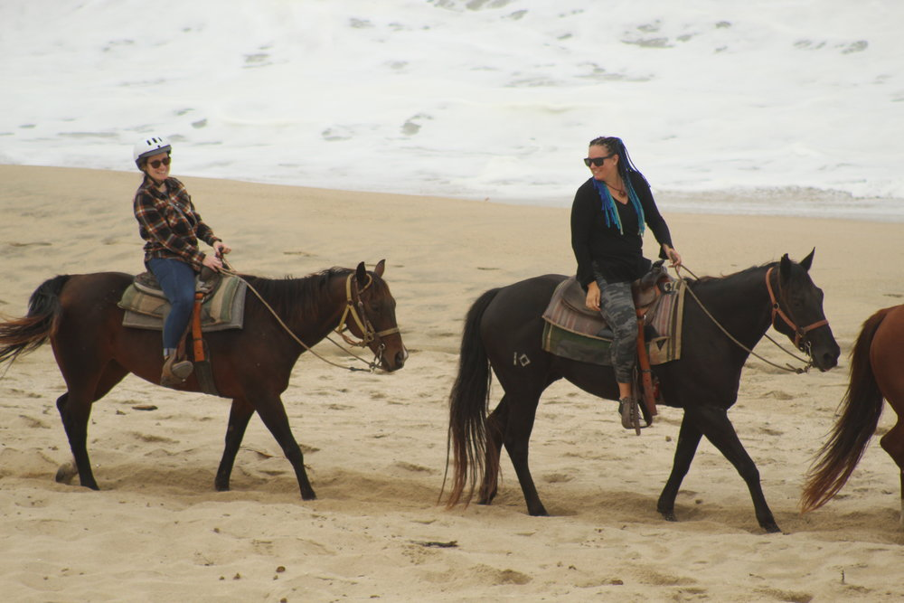 Horseback riding in Half Moon Bay with my friend Jocelyn