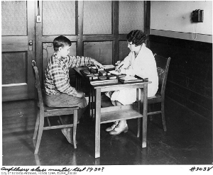 "Boy sitting ""IQ Test, 1930.  Photo courtesy of CAMH Archives."