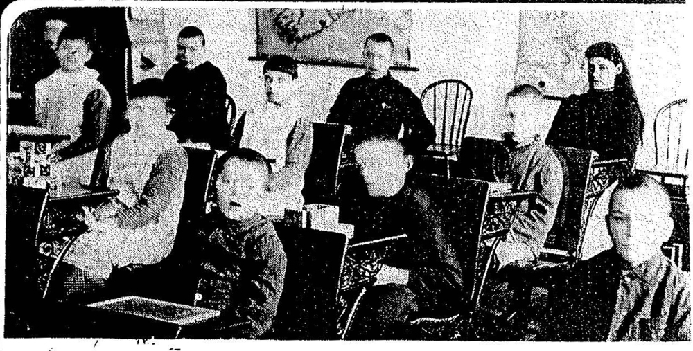 Class in the Idiot Asylum, 1900. Photo courtesy of Archives of Ontario.