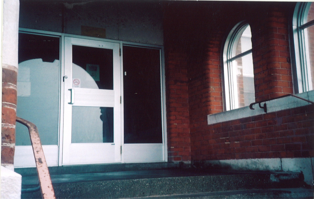 The entrance door through which all new children passed. Photo: Thelma Wheatley.
