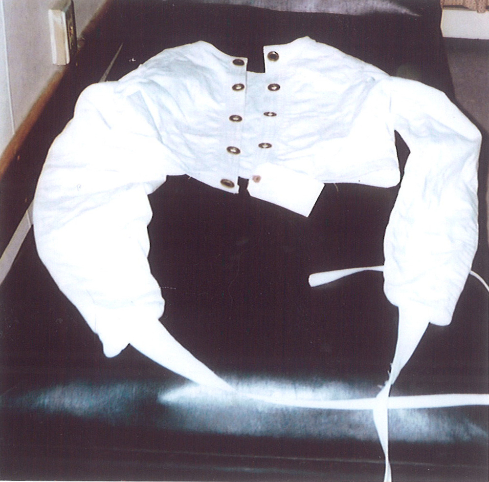 Straight jacket. Photo: Don Heald.