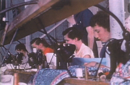 Girls and women sewing. Photo courtesy Archives of Ontario.