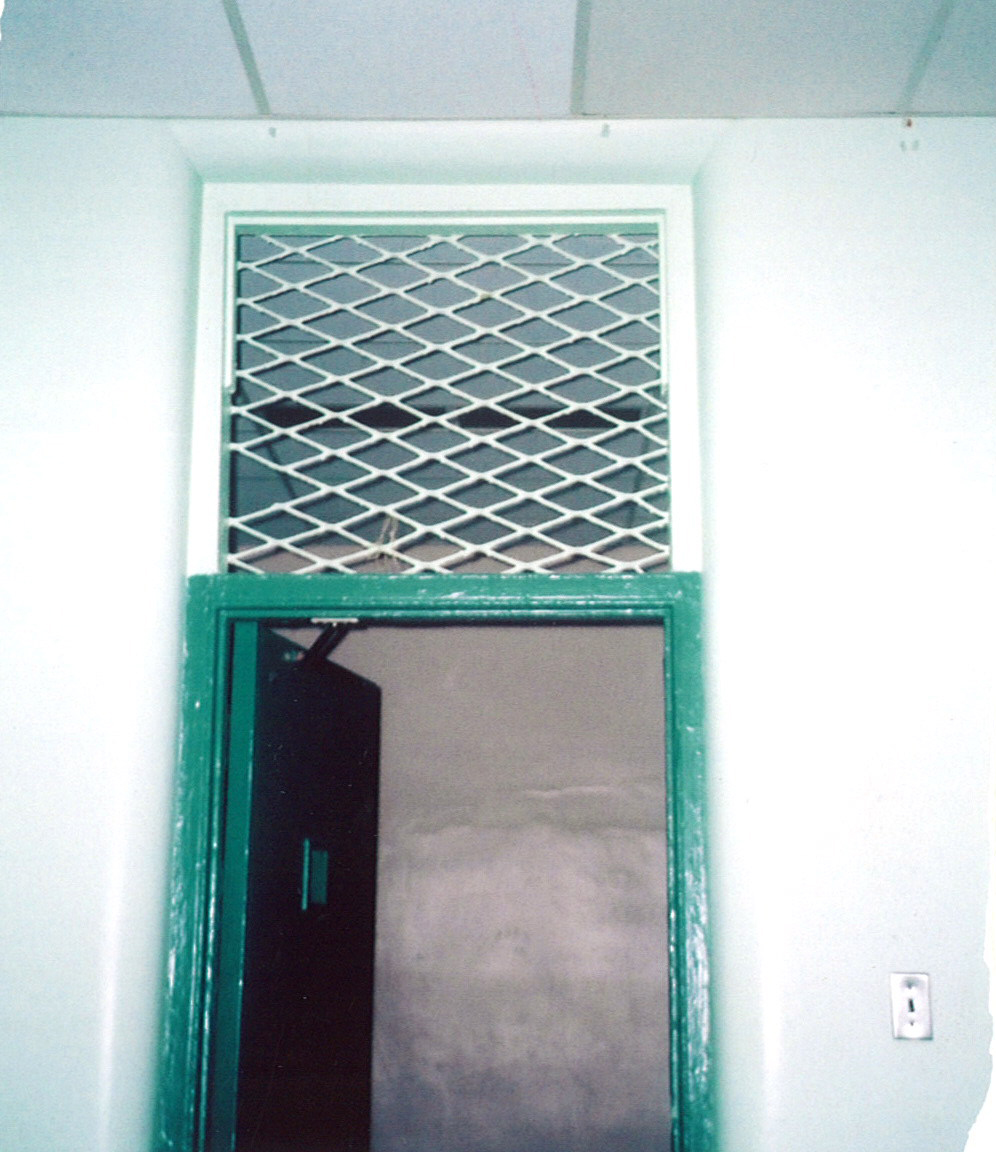Punishment room with grille to provide oxygen. Photo by Thelma Wheatley.