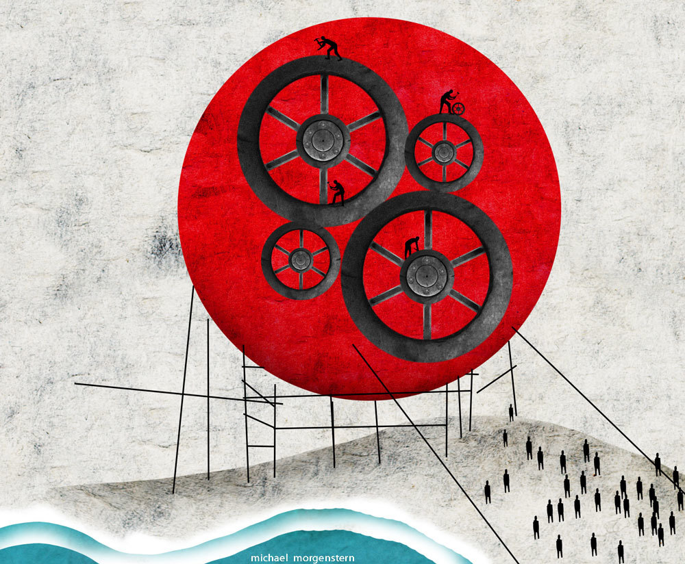 """"""" Rebuilding blocks"""" - (aftermath of Japan's earthquake and tsunami - the Economist"""