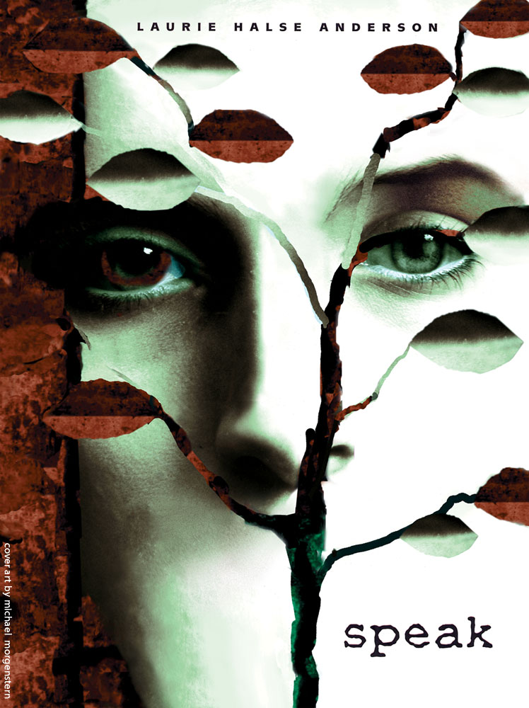 """Speak"" - a book cover for the award winning novel by Laurie Halse Anderson - Farrar, Straus & Giroux"