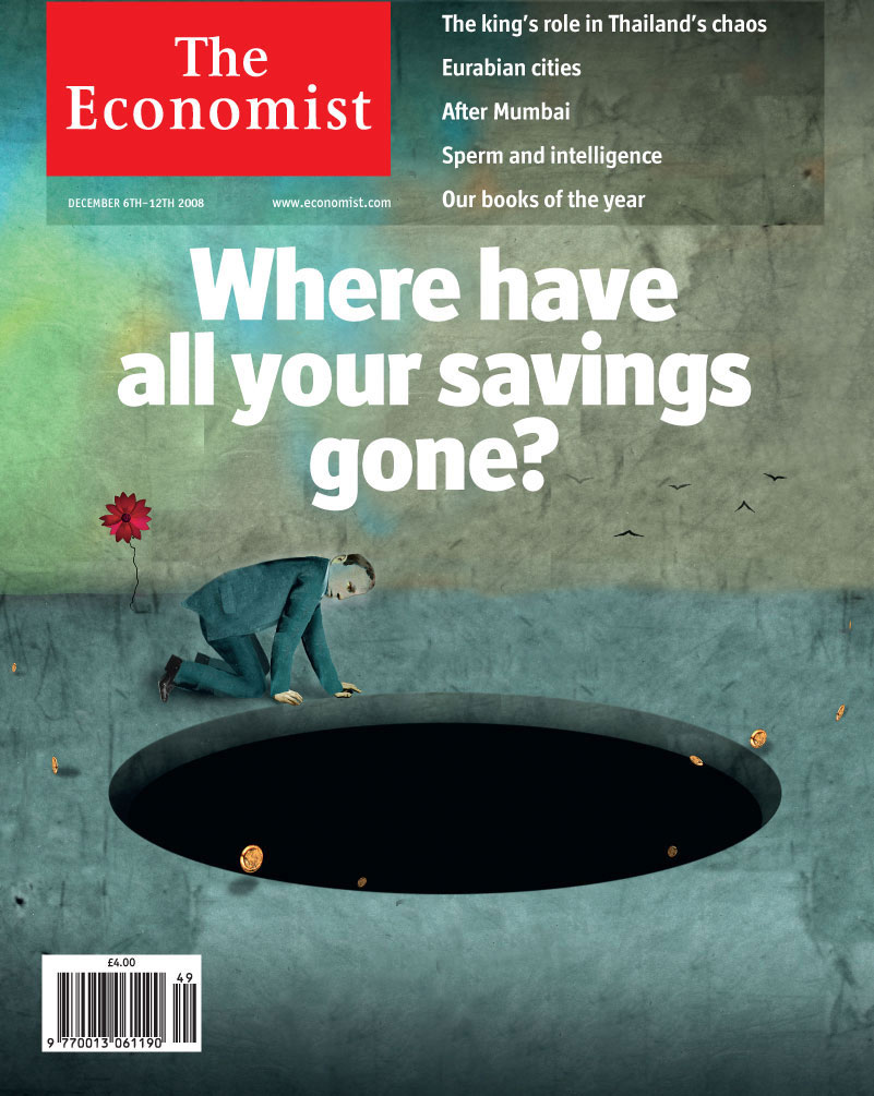 Economist cover marking the start of the Great Recession