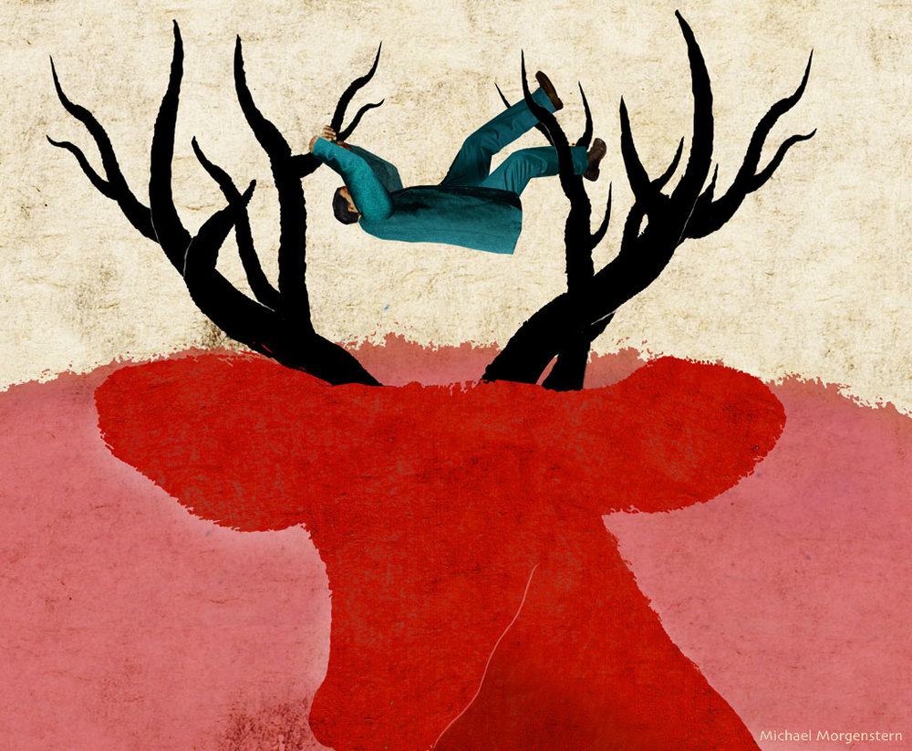 """On the antlers of a dilemma"""