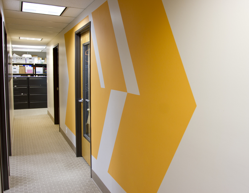 After: we used color blocks to help engage users as they move around the space.