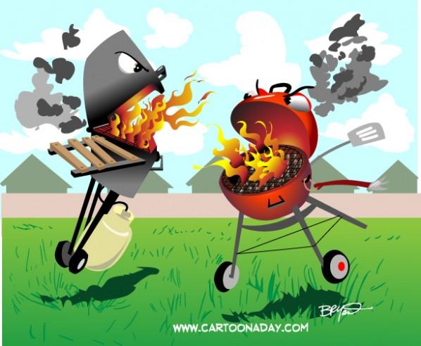 Propane-Vs-Charcoal Grills