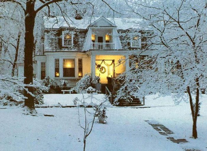 Even snow can't cover the warm, inviting allure of the right home.
