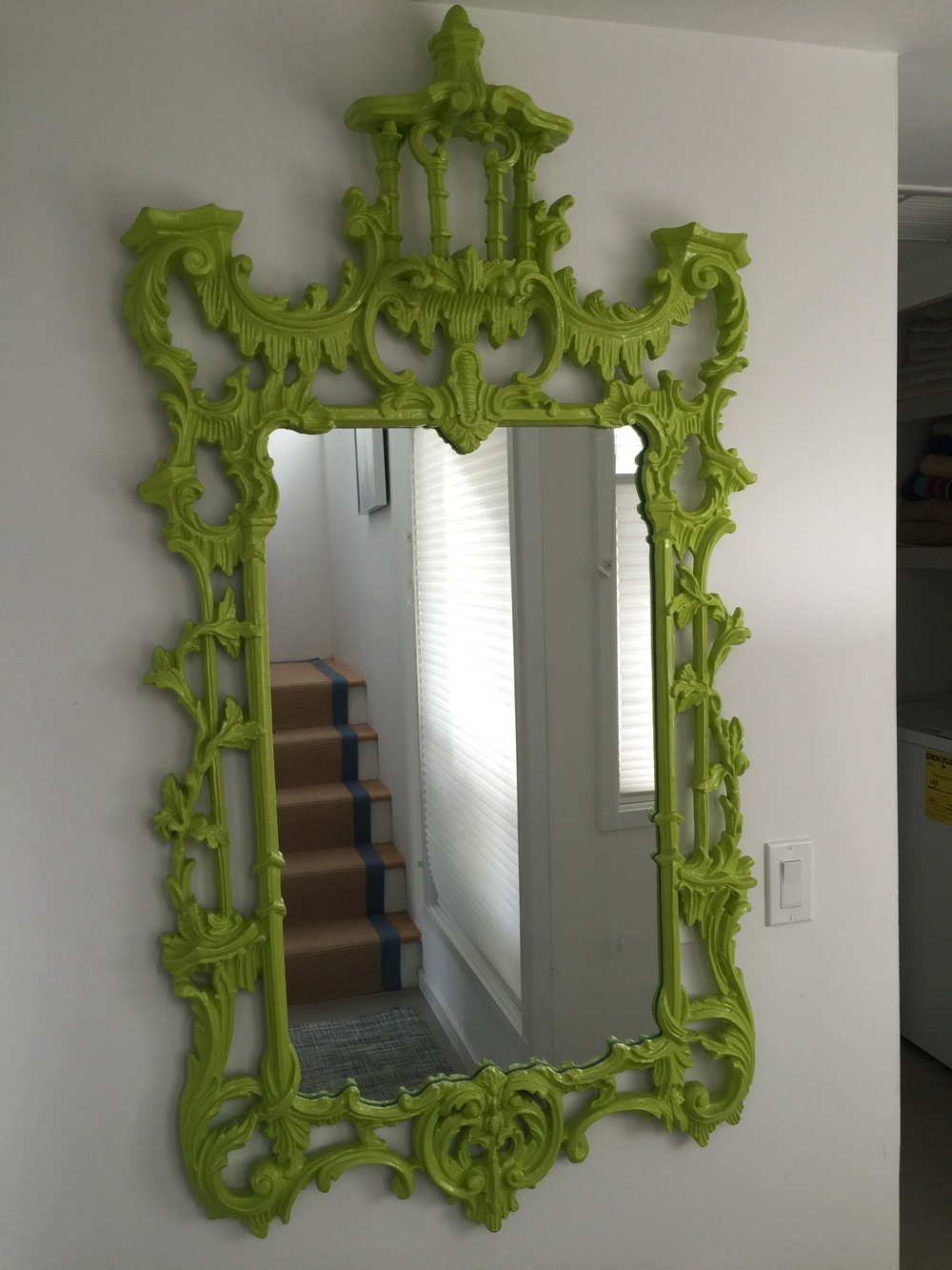 Chippendale Lacquered Mirror