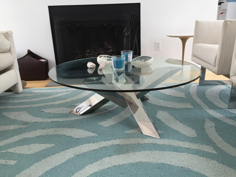 Chrome & Glass Round Coffee Table