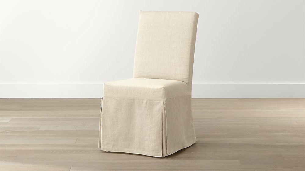 C & B Linen Dining Chair w/ Slip Cover(8)