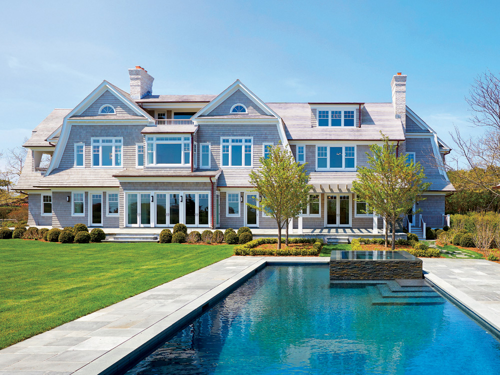 Listed by Cody Vichinsky for $27.9 million, the new home at 500 Old Town Road in Southampton combines state-of-the-art interior design with a traditional silhouette.