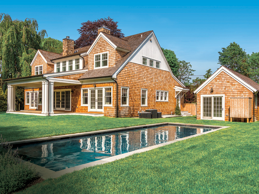 East Hampton's 75 Toilsome Lane (listed by Sarah Minardi) was designed to resemble a classic shingled summer cottage, but with all the modern amenities.