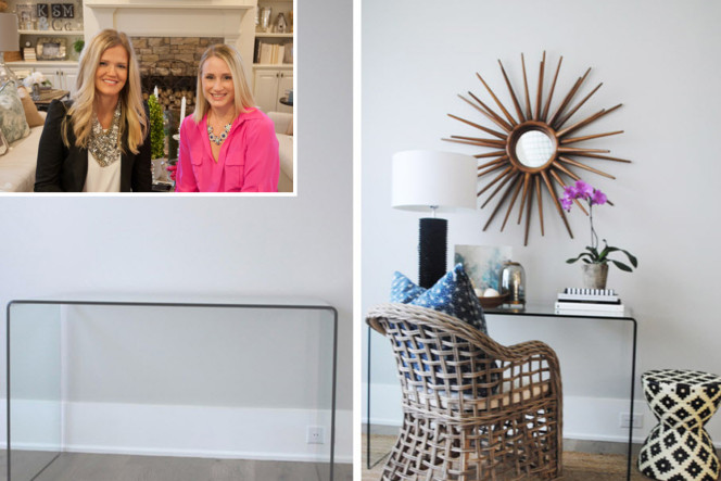 A before-and-after project from SwatchPop! — founded by Kristen Yonson (left) and Jessica McRae — which gives recommendations to dress up a room. Photo: James Paul Photography; Brian Beider Photograph