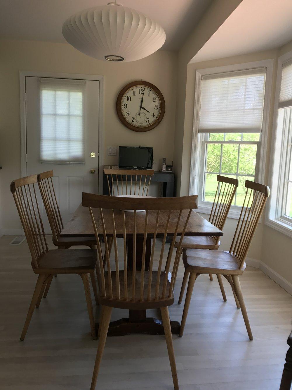 Farm Table & (4) Thomas Moser Chairs