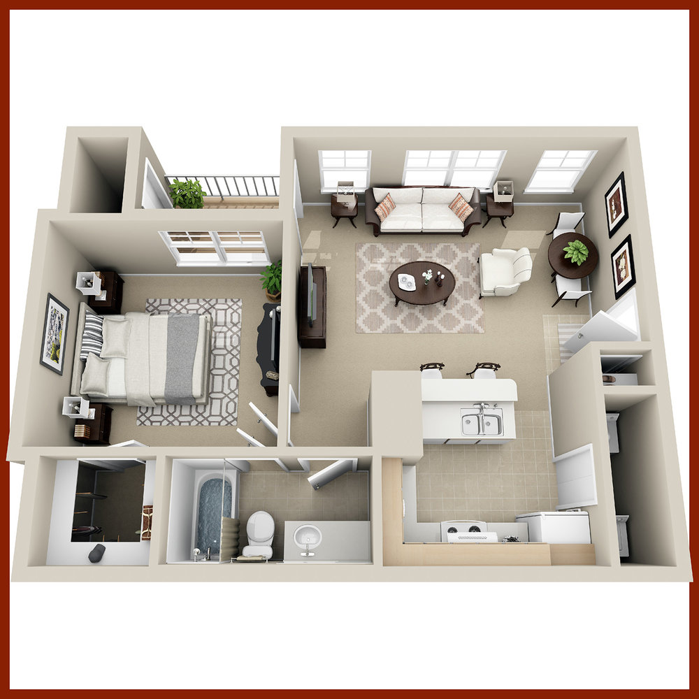 THE ELM - One Bedroom & Bath | 680 sq. ft.