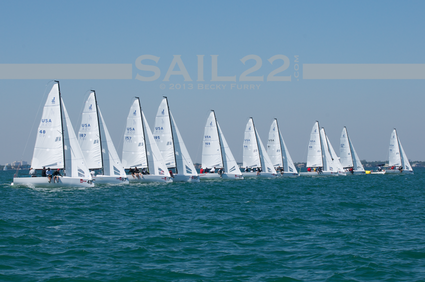 Sail22-Miami-Race-Week-2013-J70-Start