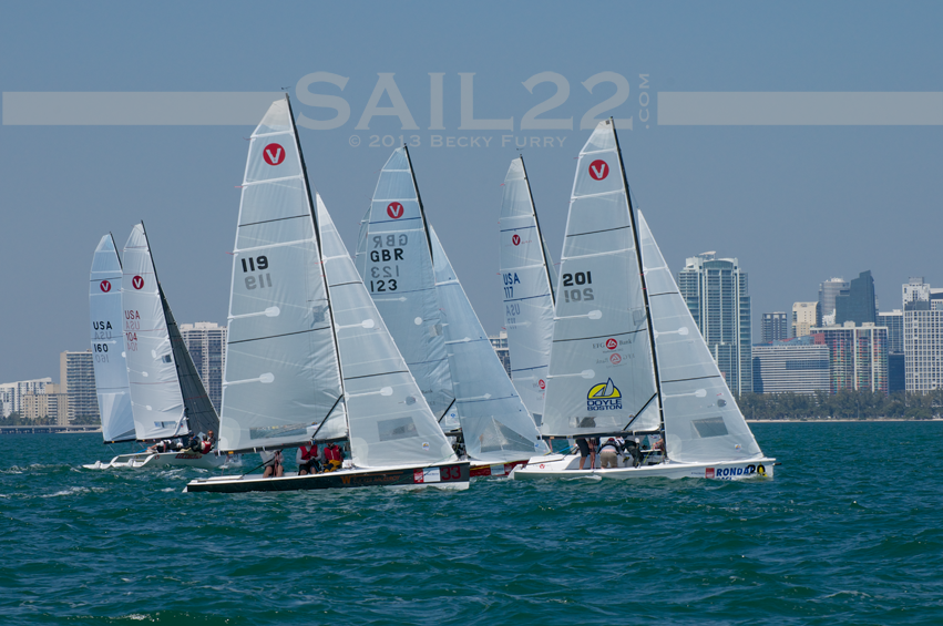 Sail22-Miami-Race-Week-2013-Vipers-Start