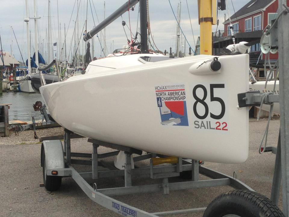 J70 North Americans 2013 Sail22 Bow Stickers