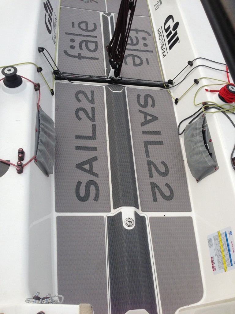 Blog Sail22 Wiring A Trailer Light Board The J 70 Soft Deck Kit Protects Your Crew Gear And Lines Self Adhesive Non Absorbing Of Water Custom Graphic Inlays Available