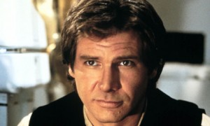 Han Solo, looking every inch a handsome devil