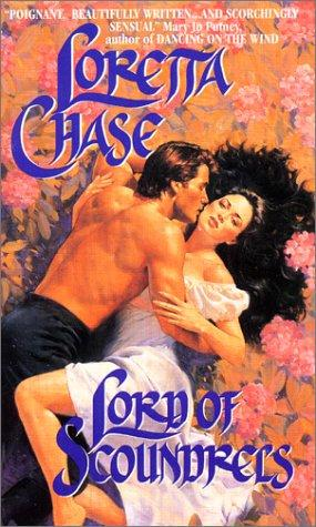The original cover of Lord of Scoundrels is amazing--it's bright orange, Dain is topless and gorgeous, and he has Jessica down on the ground in a field of flowers. She's wrapped around him, her black hair spread out beneath her.
