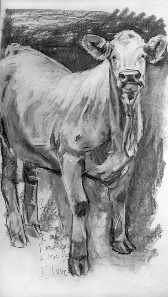 John, Charcoal on Paper, 60x36 inches, 2009