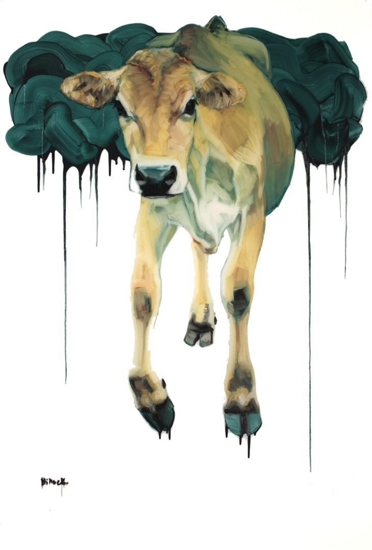 Hannah, Oil on Mylar, 58x36 inches