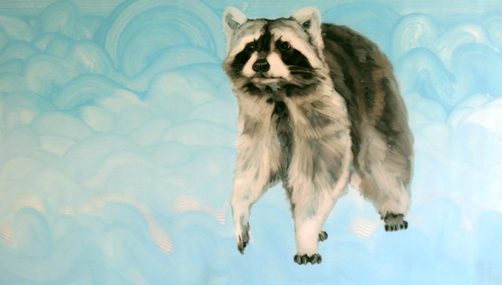 Chloe, Oil on Mylar, 36x58 inches