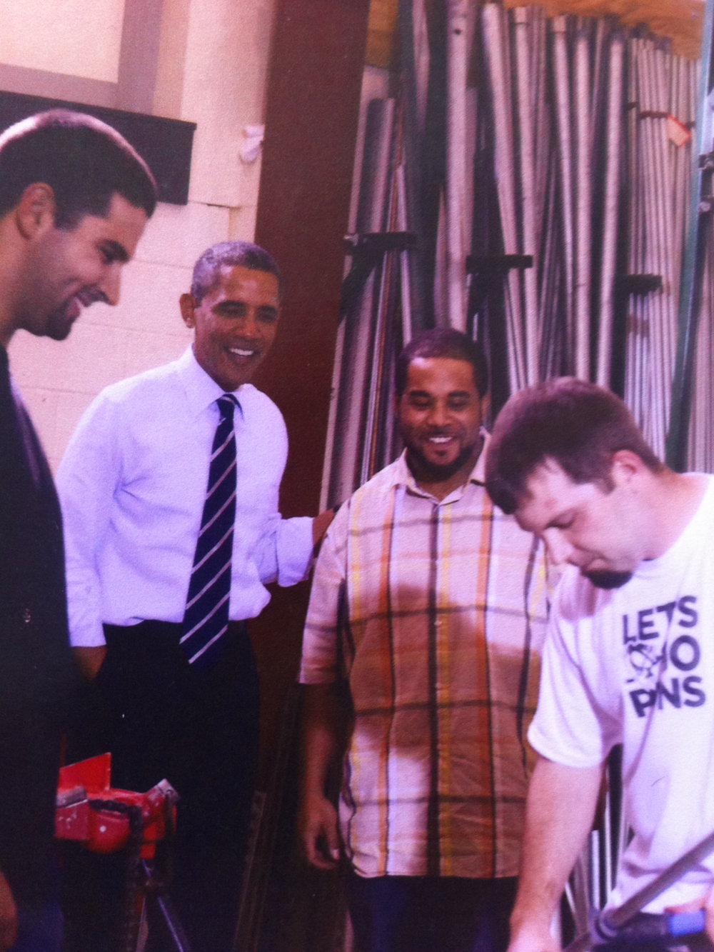 My nephew with Obama
