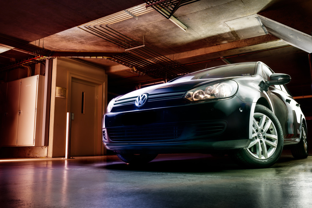 Light Painting - Volkswagen Golf Mk6 black