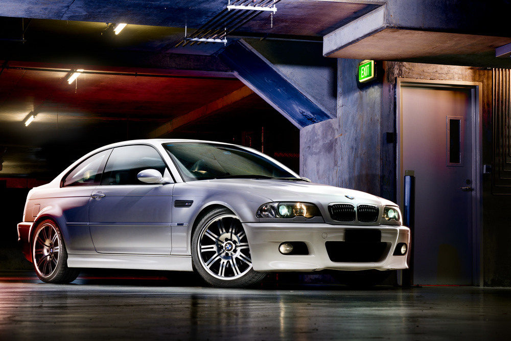 Light Painting - BMW E46 M3 white