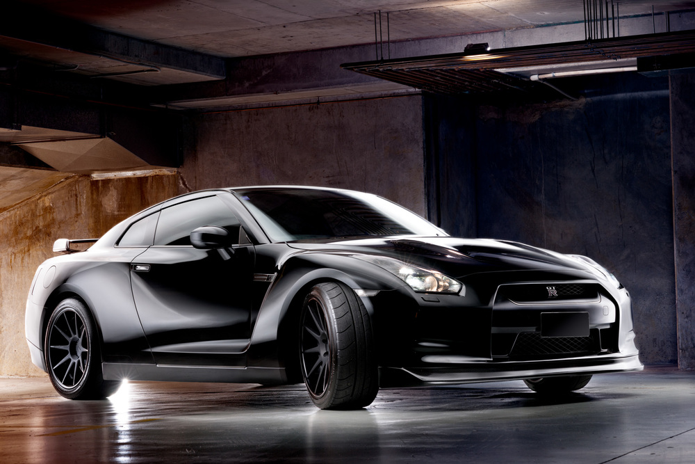 Light Painting - Nissan GT-R (R35) black