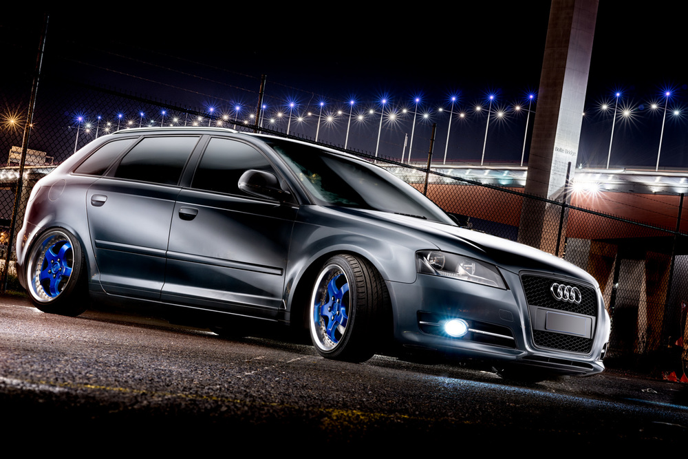 Light Painting - Audi A3 blue