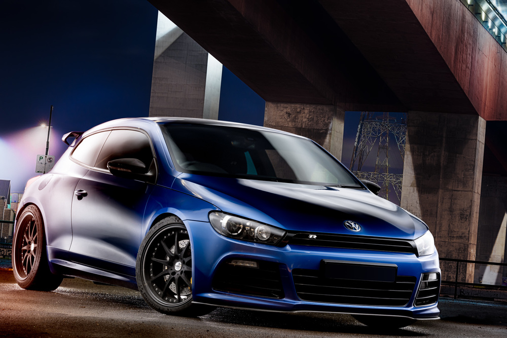 Light Painting - Scirocco R blue